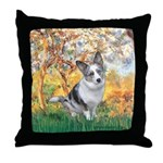 Spring - Corgi (Bl.M) Throw Pillow