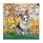 Spring - Corgi (Bl.M) Tile Coaster