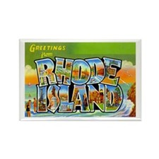 Greetings from Rhode Island Rectangle Magnet (100