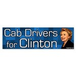 Cab Drivers for Clinton bumper sticker