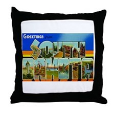 Greetings from South Dakota Throw Pillow