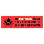 Greyhound Slow Honor Student Sticker