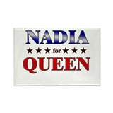 NADIA for queen Rectangle Magnet (10 pack)