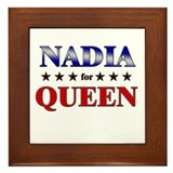 NADIA for queen Framed Tile