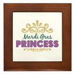 Mardi Gras Princess Framed Tile