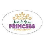 Mardi Gras Princess Oval Sticker