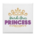 Mardi Gras Princess Tile Coaster