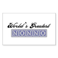 World's Greatest Nonno Rectangle Decal