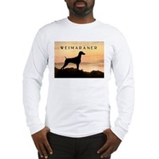 Weimaraner Sunset Long Sleeve T-Shirt