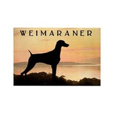 Weimaraner Sunset Rectangle Magnet