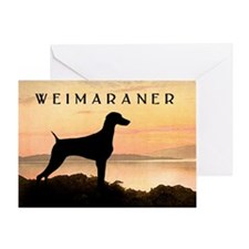 Weimaraner Sunset Greeting Card