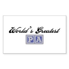 World's Greatest Pa Rectangle Stickers