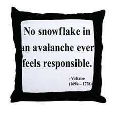 Voltaire 7 Throw Pillow