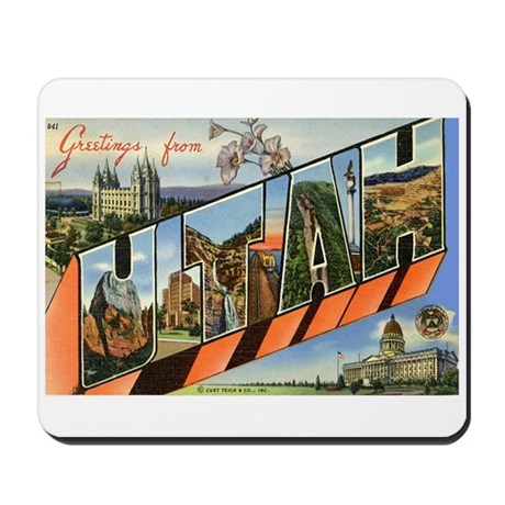 Greetings from Utah Mousepad