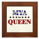 MYA for queen Framed Tile