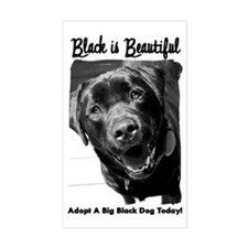 Adopt a Big Black Dog Rectangle Decal