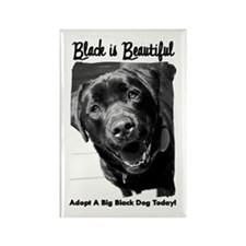 Adopt a Big Black Dog Rectangle Magnet (10 pack)