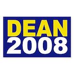 Dean 2008 campaign bumper sticker