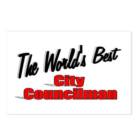"""The World's Best City Councilman"" Postcards (Pack"