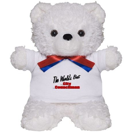 """The World's Best City Councilman"" Teddy Bear"