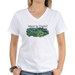 Want to trade hostas? Women's V-Neck T-Shirt