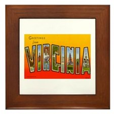 Greetings from Virginia Framed Tile