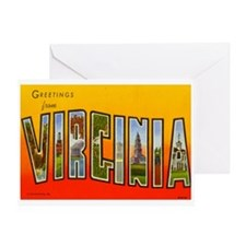 Greetings from Virginia Greeting Card