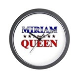 MIRIAM for queen Wall Clock