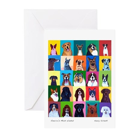 "AMERICA""S MOST WANTED Greeting Cards (Pk of 10)"