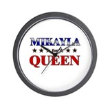 MIKAYLA for queen Wall Clock