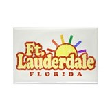 Sunny Gay Ft. Lauderdale Florida Rectangle Magnet