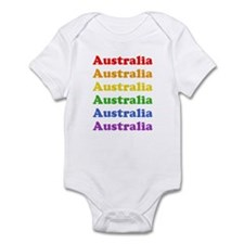 Australia (retro rainbow) Infant Bodysuit