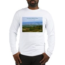 Porcupine Islands (caption) Long Sleeve T-Shirt