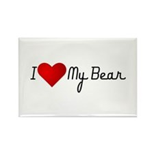 I Heart my Bear Rectangle Magnet