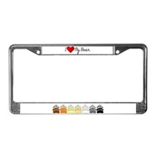 I Heart my Bear License Plate Frame