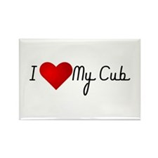 I Heart My Cub Rectangle Magnet (10 pack)