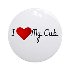I Heart My Cub Ornament (Round)