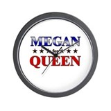 MEGAN for queen Wall Clock