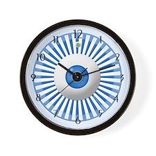 Blue Stripe Circle with Eyeball Home Wall Clock