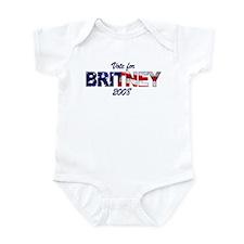 Vote for Britney Infant Bodysuit