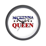 MCKENNA for queen Wall Clock