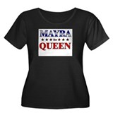 MAYRA for queen Women's Plus Size Scoop Neck Dark
