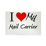 I Heart My Mail Carrier Rectangle Magnet (10 pack)
