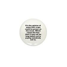 Jones quotation Mini Button (100 pack)