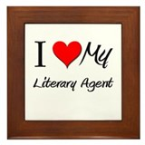 I Heart My Literary Agent Framed Tile