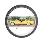 Yellow Studebaker on Wall Clock