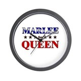 MARLEE for queen Wall Clock