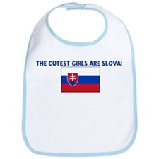 THE CUTEST GIRLS ARE SLOVAK Bib