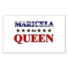 MARICELA for queen Rectangle Decal