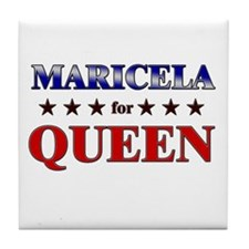 MARICELA for queen Tile Coaster